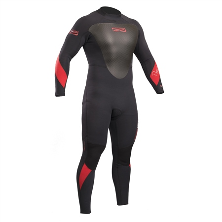 Gul Response Mens 3/2mm Wetsuit - Black & Red (2019)  - Click to view a larger image