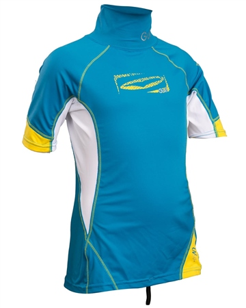 Gul Junior Short Sleeved Rash Vest - Blue  - Click to view a larger image