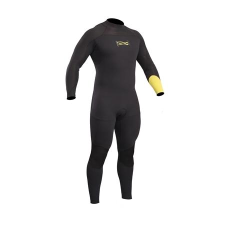 Gul Mens Response FX 5/4mm Wetsuit - Black & Yellow  - Click to view a larger image