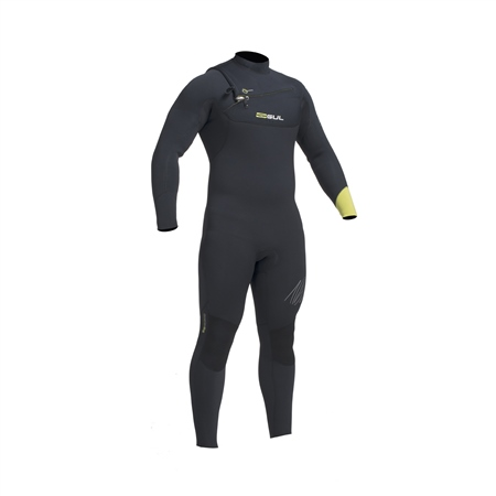 Gul Response Mens FX 5/4mm Wetsuit - Black & Yellow  - Click to view a larger image
