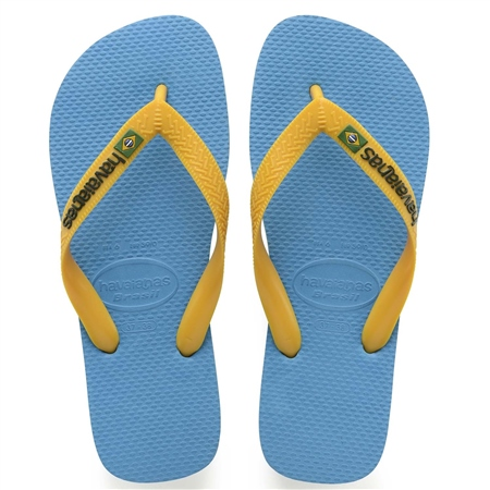 Havaianas Mens Brazil Logo Flip Flops - Turquoise  - Click to view a larger image