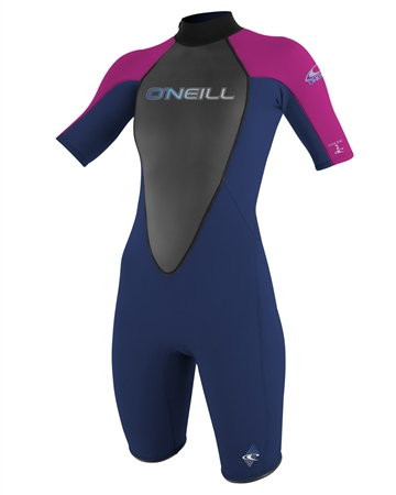 O'Neill Reactor 2mm Spring Wetsuit - Navy & Pink  - Click to view a larger image