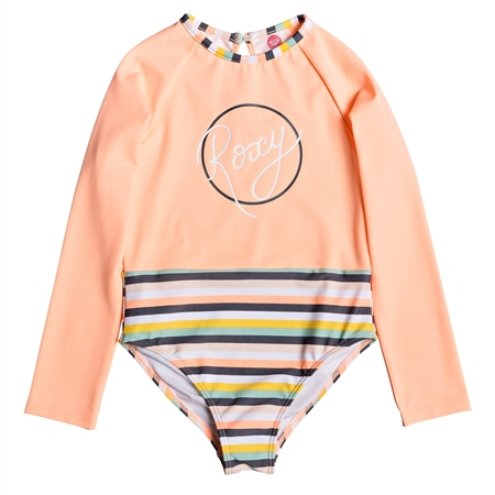 Roxy Long Sleeved Lets Go Swimsuit - Salmon  - Click to view a larger image