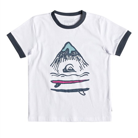 Quiksilver Boys Byron Boogie T-Shirt - White  - Click to view a larger image