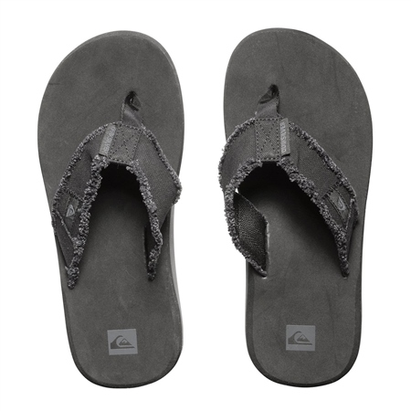 Quiksilver Men's Monkey Abyss Flip Flops - Black & Brown  - Click to view a larger image