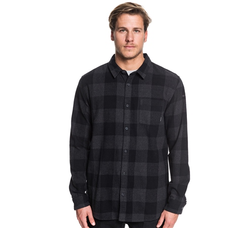 Quiksilver Men's Motherfly Shirt - Black  - Click to view a larger image