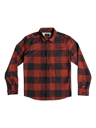 Quiksilver Boys Motherfly Shirt - Barn Red  - Click to view a larger image
