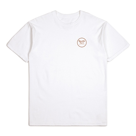 Brixton Wheeler II T-Shirt - White & Bronze  - Click to view a larger image