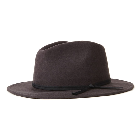 Brixton Coleman Fedora Hat - Washed Black  - Click to view a larger image