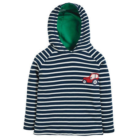 Frugi Reversible Hoody - Blue  - Click to view a larger image
