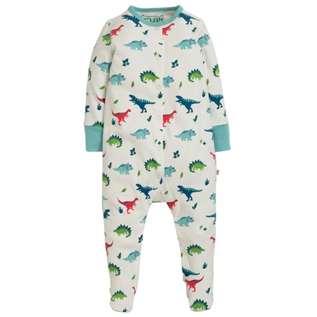 Frugi Lovely Babygrow - Dino  - Click to view a larger image
