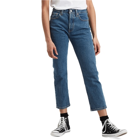 Levi's 501 Crop Jeans - Blue  - Click to view a larger image