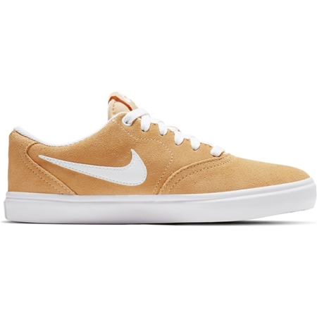 Nike SB Check Solar Shoes - Gold & White  - Click to view a larger image