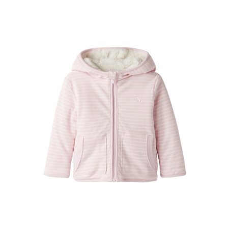 Joules Cosette Reversible Hoody - Pink Stripe  - Click to view a larger image