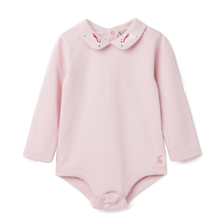 Joules Snazzy Luxe Babygrow - Pink Rabbit  - Click to view a larger image