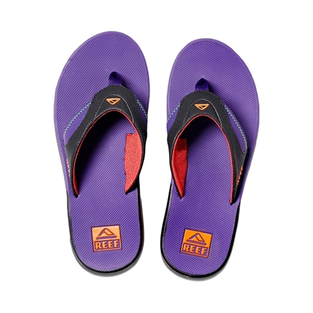 Reef Fanning Flip Flops - Black & Purple  - Click to view a larger image