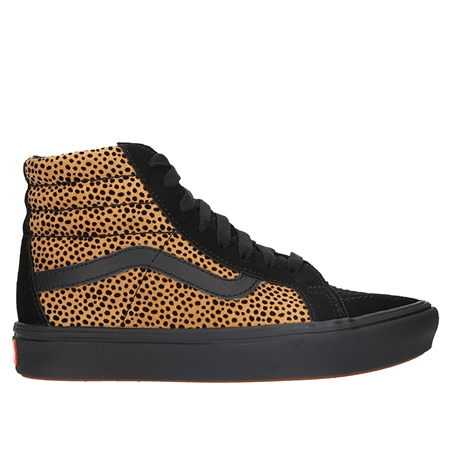 Vans ComfyCush Sk8 Hi Shoes - Cheetah & Black  - Click to view a larger image