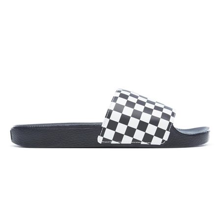 Vans Slide On Flip Flops - Checkerboard White  - Click to view a larger image
