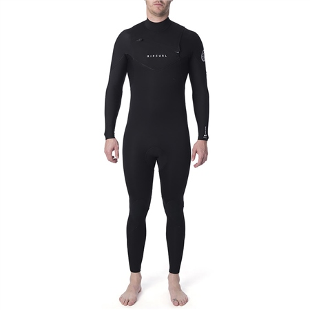 Rip Curl Dawn Patrol Chest Zip 4/3mm Wetsuit -Black