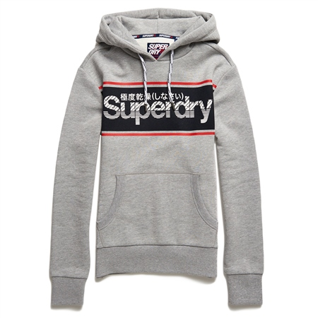 Superdry Retro Sport Hoody - Grey
