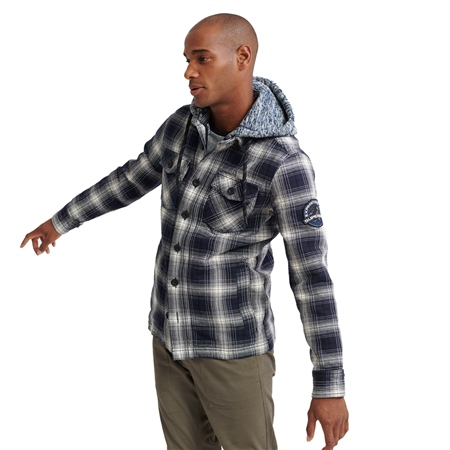 Superdry Everest Hooded Shirt - Navy