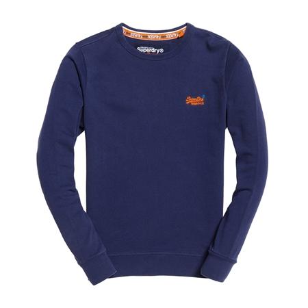 New Mens Superdry Factory Second Classics Crew Sweatshirt Indigo Navy