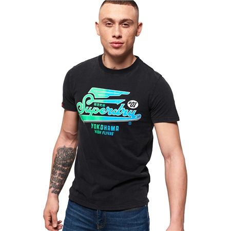 Superdry High Flyers Hyper Classics T-Shirt - Black  - Click to view a larger image