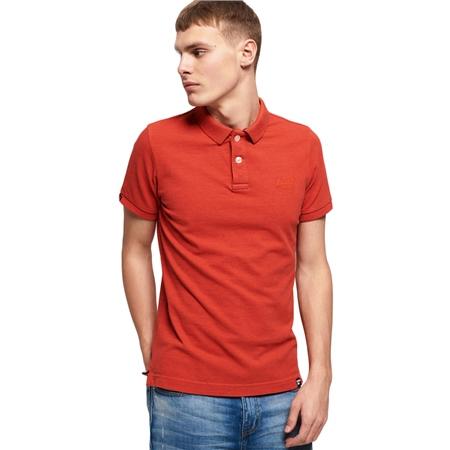 Superdry  Vintage Destroyed Polo Shirt - Orange