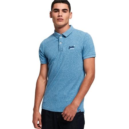 Superdry Classic Polo Shirt - Sea Spray Grit