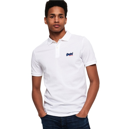 Superdry Mercerised Lite City Polo Shirt - Optic  - Click to view a larger image