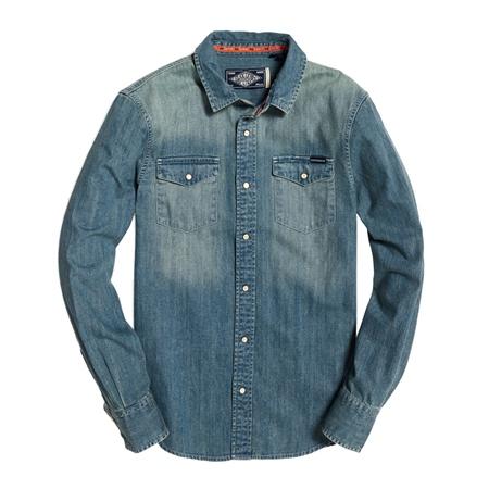 Superdry Resurrection Shirt - Medium Blue