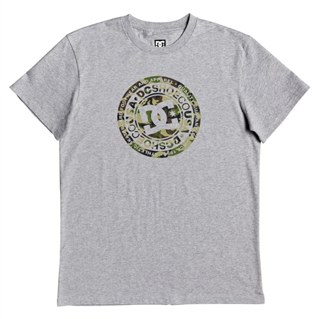 DC Shoes Circle T-Shirt - Grey Heather & Camo