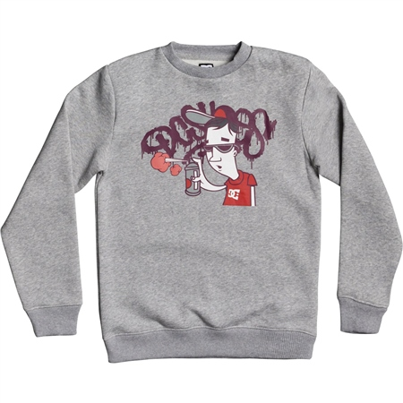 DC Shoes Karved Sweatshirt - Grey Heather  - Click to view a larger image