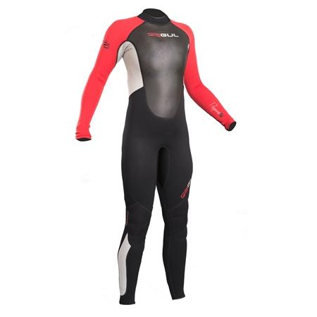 Gul Response 3/2mm Junior Back Zip Wetsuit - Black & Red (2020)