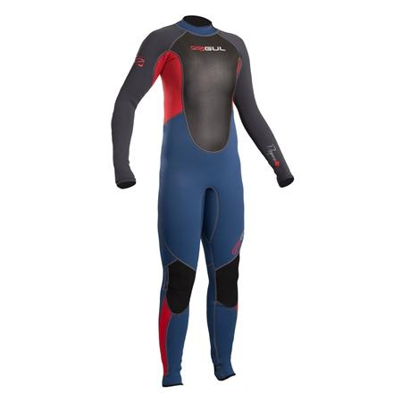 Gul Response Junior Back Zip 3/2mm Wetsuit  - Blue & Graphite (2019)