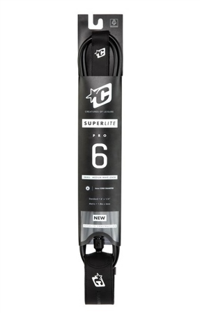 """Creatures of Leisure 6'0"""" Superlite Leash  - Black  - Click to view a larger image"""