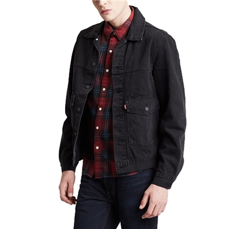 Levi's Patch Pocket Trucker Jacket - Black