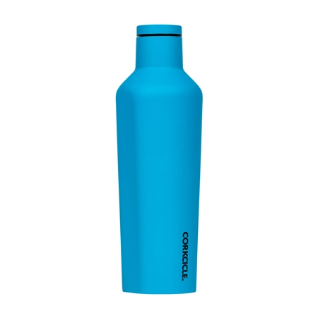 Corkcicle Neon Lights Canteen 16oz Bottle - Neon Blue
