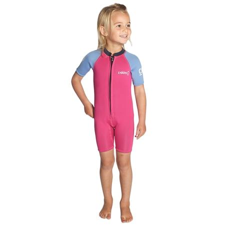 C-Skins C-Kid Baby Shorty Wetsuit - Magenta, Powder Blue & Slate (2020)