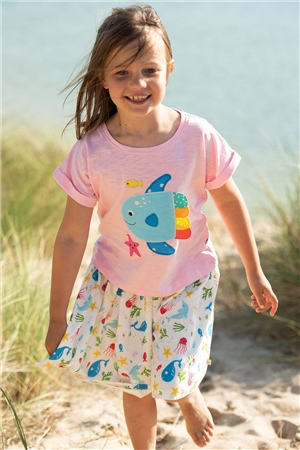Frugi Fiona Full Skirt - Splash  - Click to view a larger image