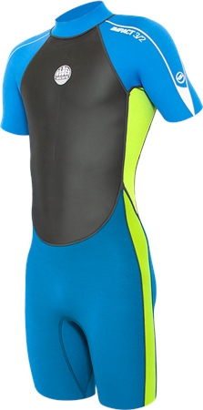 Alder Impact Shorty Wetsuit - Lime  - Click to view a larger image