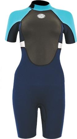 Alder Impact Shorty Wetsuit - Blue  - Click to view a larger image