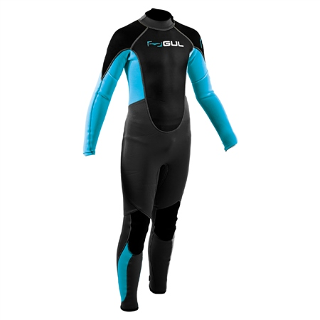 Gul Junior Response FL 3/2mm Back Zip Wetsuit - Jet Grey & Bluestar (2020)  - Click to view a larger image