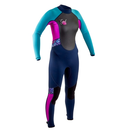 Gul Junior Response FL 3/2mm Back Zip Wetsuit - Navy & Rouge (2020)  - Click to view a larger image