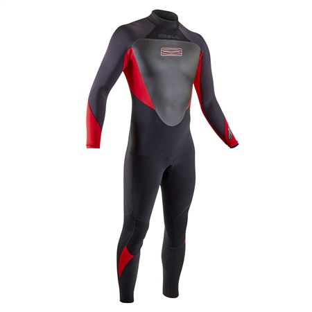 Gul Response 3/2mm Back Zip Wetsuit - Black & Red (2020)  - Click to view a larger image