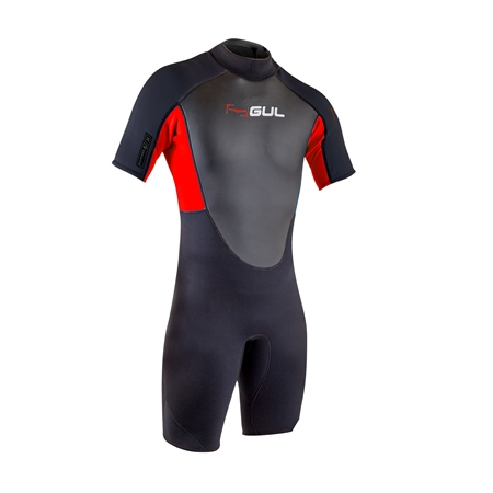 Gul Response Shorty Wetsuit - Black & Red (2020)  - Click to view a larger image