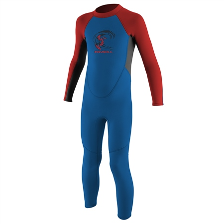 O'Neill Boys Reactor-2 2mm Back Zip Wetsuit - Ocean, Graph & Red (2020)  - Click to view a larger image