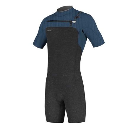 O'Neill HyperFreak 2mm Chest Zip Shorty Wetsuit - Acid Wash & Abyss (2020)  - Click to view a larger image