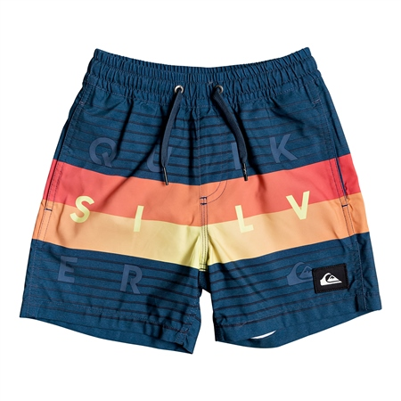 Quiksilver Word Block Volley Shorts - Majolica Blue