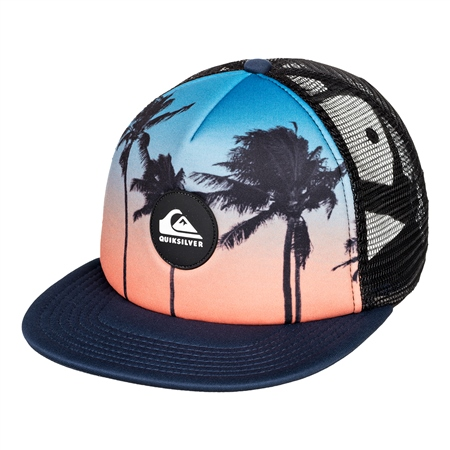 Quiksilver Boys Psychic Patterns Trucker Cap - Majolica Blue